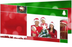 Weihnachtskarten mit eigenem Foto - Weihnachtskarte own picture in christmas collage red and green, ll