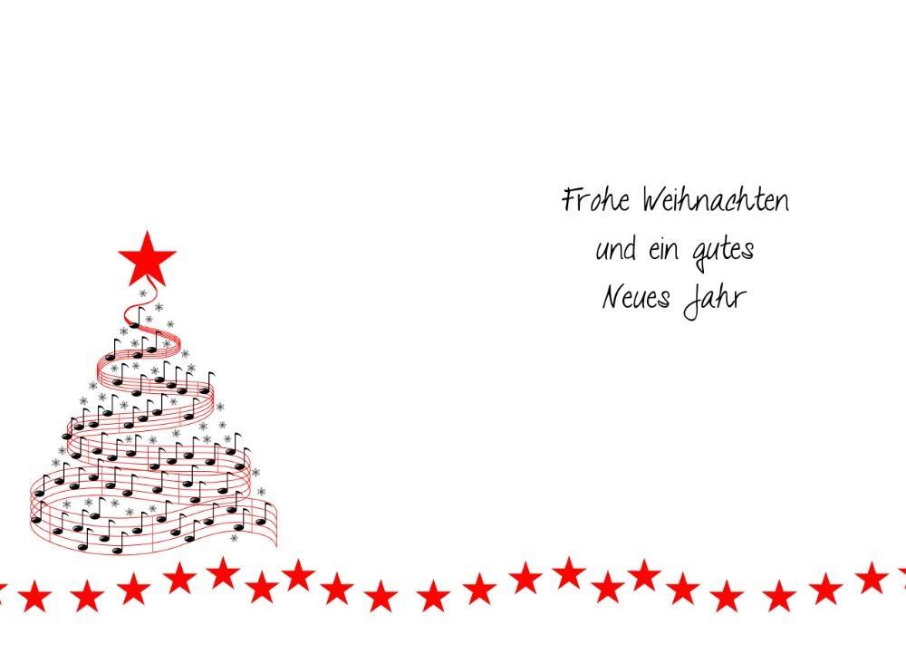 weihnachtswunschkarte mit christbaum aus noten. Black Bedroom Furniture Sets. Home Design Ideas