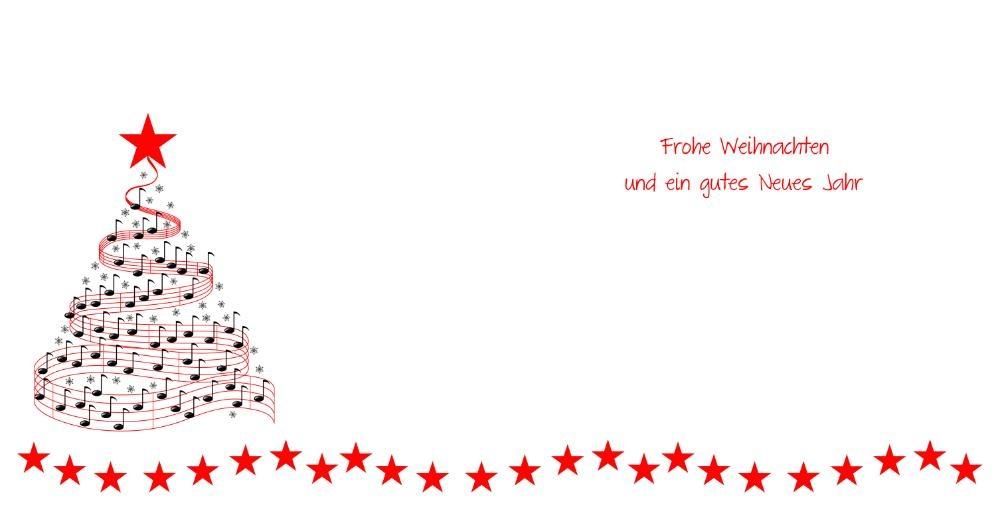 weihnachtskarte mit weihnachtsbaum aus musiknoten. Black Bedroom Furniture Sets. Home Design Ideas