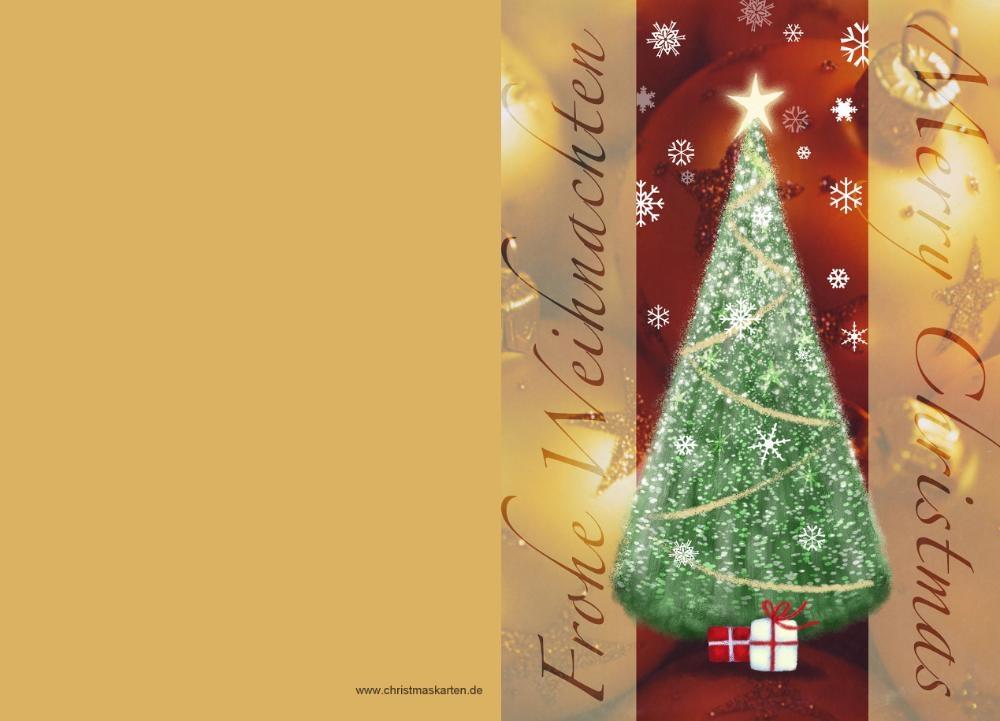 Weihnachtsgrüße Klassisch.Weihnachtsgrußkarte Mit Weihnachtsbaum Auf Rot